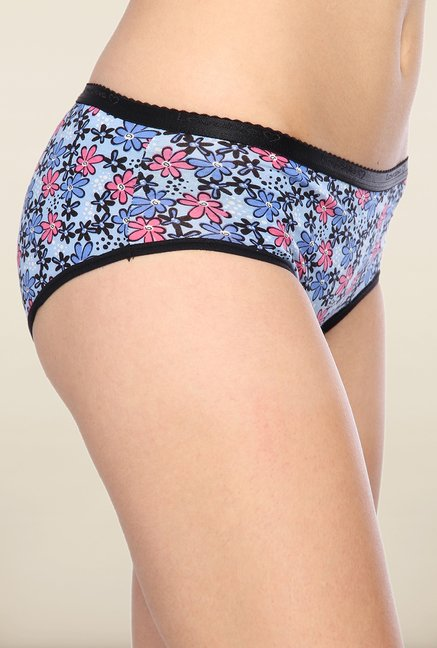 Lovable Blue Floral Printed Briefs (Pack of 3)