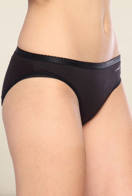 Lovable Black Solid Bikini Panties (Pack of 3)