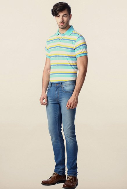 Peter England Multicolor Polo T-Shirt