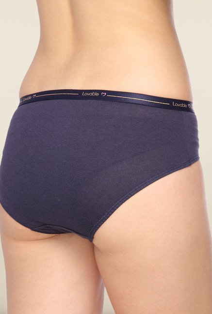 Lovable Navy Solid Briefs (Pack of 3)
