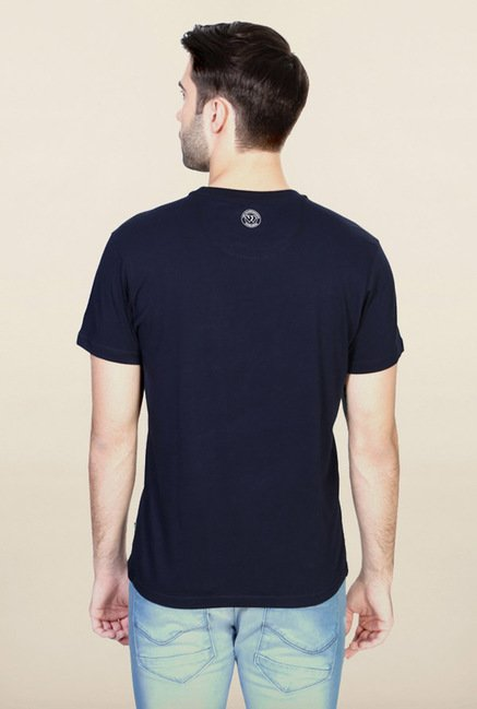 Allen Solly Navy Printed T-Shirt