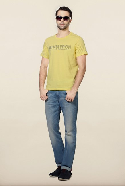 Allen Solly Yellow Wimbledon T-Shirt