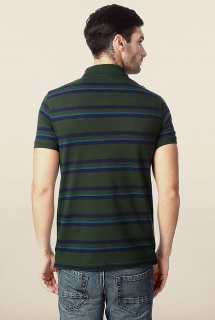 Peter England Green Polo Slim Fit T-Shirt