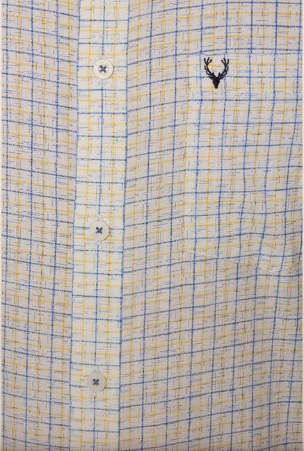 Allen Solly White Checks Shirt