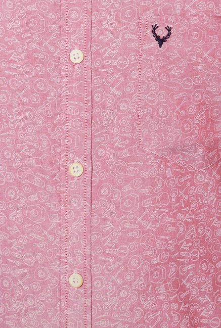 Allen Solly Pink Printed Shirt