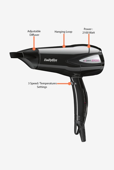 Babyliss D321E 2100 W Hair Dryer Black