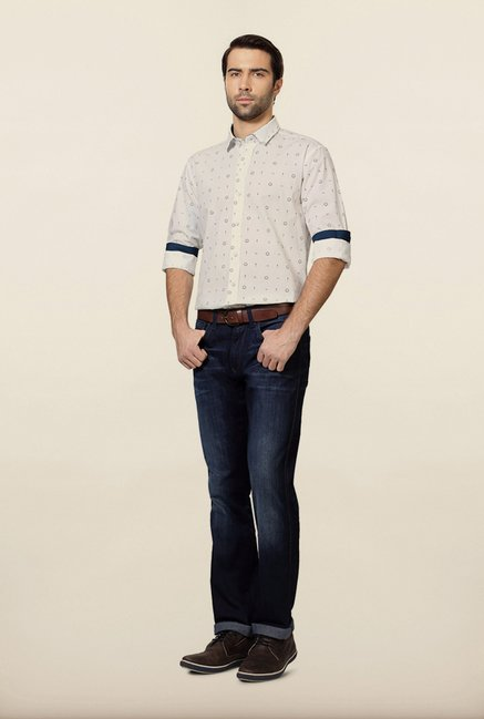 Allen Solly White Slim Fit Shirt