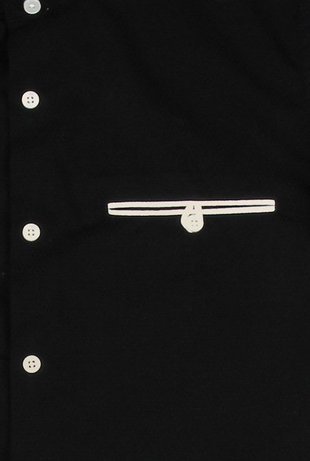 Peter England Black Slim Fit Casual Shirt