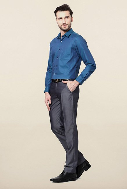 Peter England Blue Printed Shirt