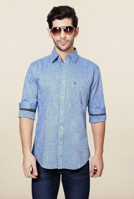 Allen Solly Blue Slim Fit Shirt