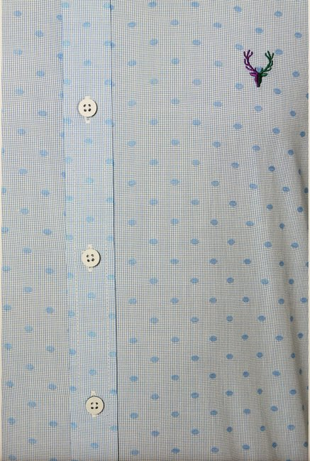 Allen Solly Blue Printed Shirt