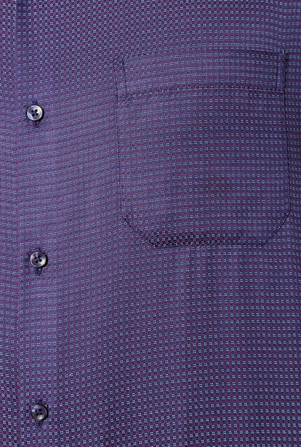 Peter England Violet Printed Casual Shirt