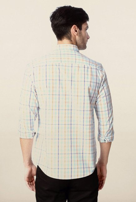 Peter England Multicolour Checks Casual Shirt