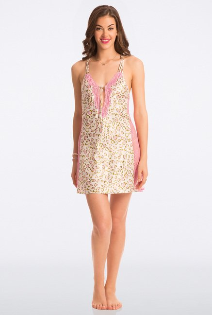 Pretty Secrets Multicolor Heart Print Chemise
