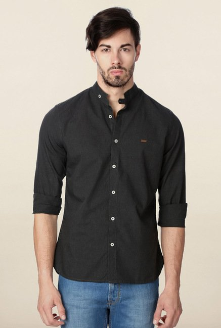 Peter England Grey Casual Shirt