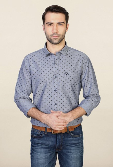 Allen Solly Grey Printed Casual Shirt