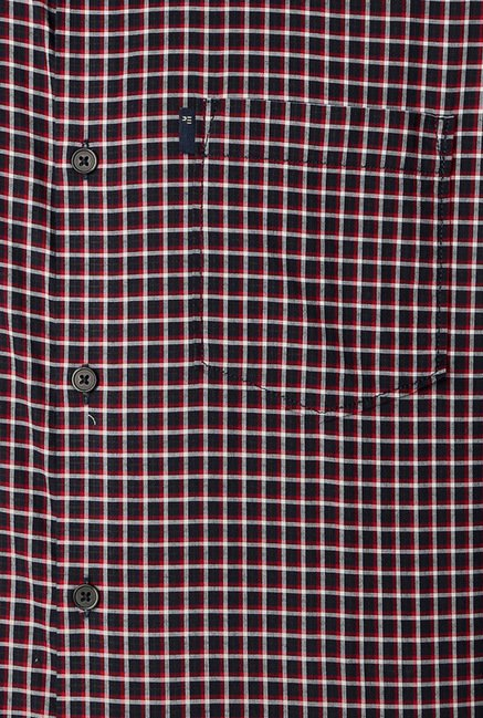 Peter England Black Checks Casual Shirt