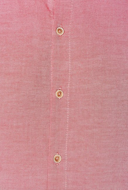 Peter England Pink Solid Casual Shirt