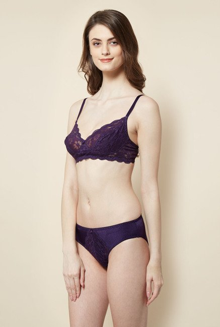 Little Lacy Violet Lace Lingerie Set