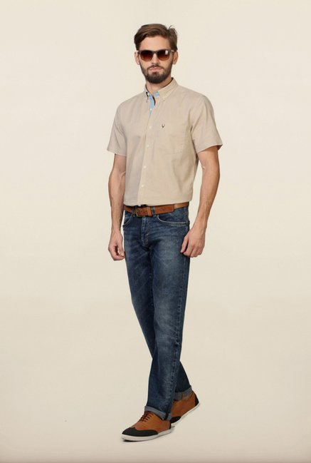 Allen Solly Beige Casual Shirt