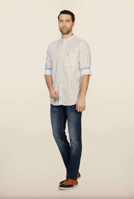Allen Solly White Casual Shirt