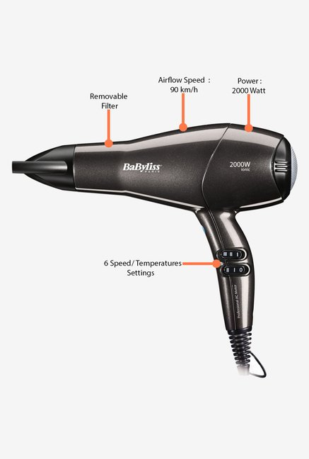 Babyliss D420E 2000 W Hair Dryer Black