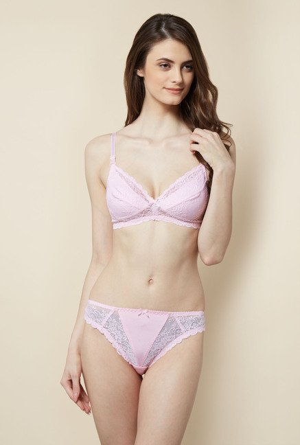 Little Lacy Pink Lace Lingerie Set