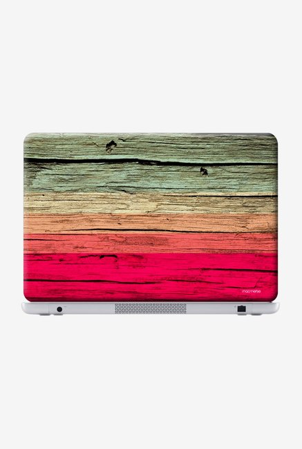 "Macmerise Wood Stripes Fuschia Skin for 14"" Laptops"