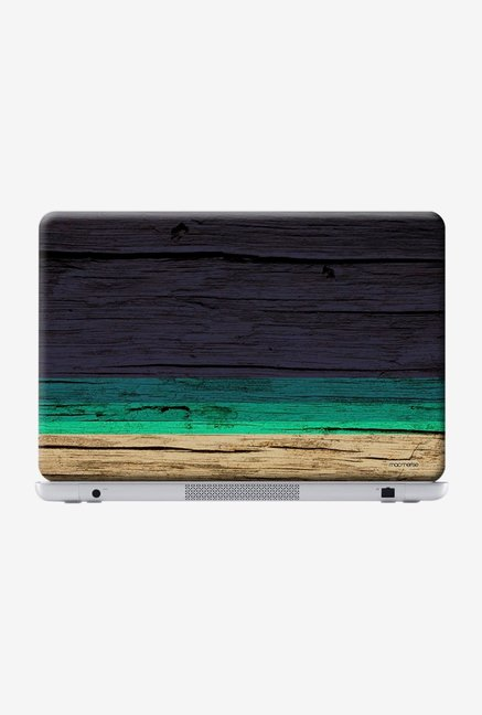 "Macmerise Wood Stripes Blue Skin for 13"" Laptops"
