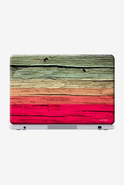"Macmerise Wood Stripes Fuschia Skin for 15"" Laptops"