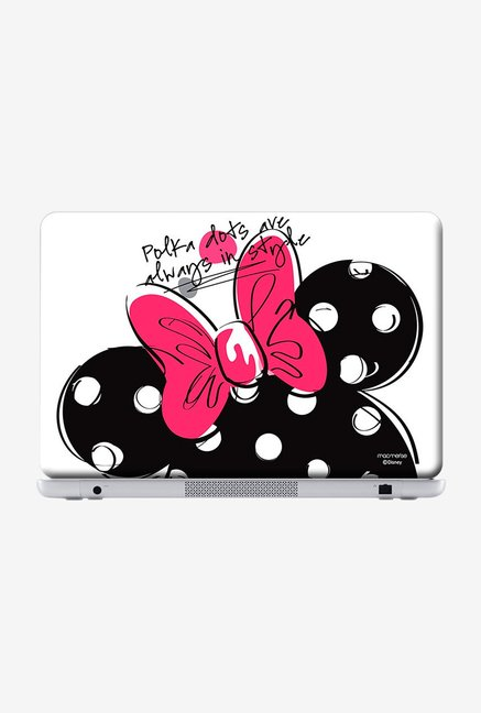 "Macmerise Polka Minnie Skin for 15"" Laptops"
