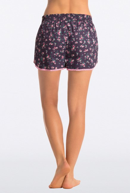 Pretty Secrets Navy Floral Print Shorts