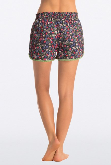 Pretty Secrets Navy Cotton Shorts