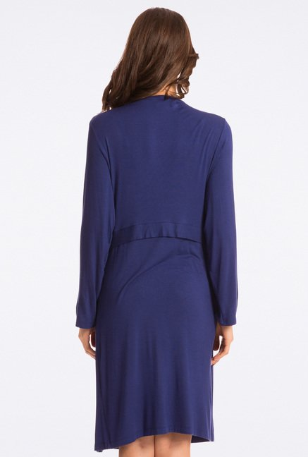 Pretty Secrets Navy Solid Robe