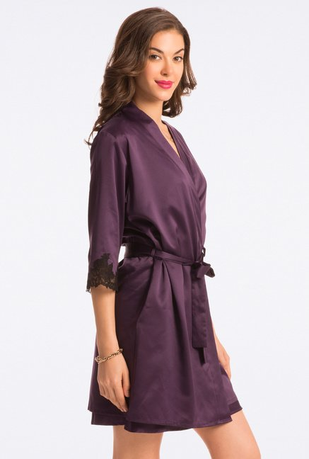 Pretty Secrets Purple Solid Robe