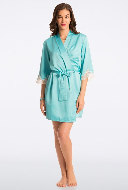 Pretty Secrets Aqua Solid Robe