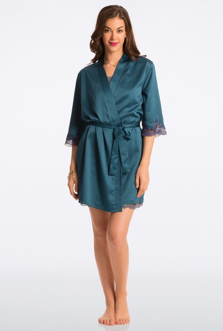 Pretty Secrets Green Solid Robe