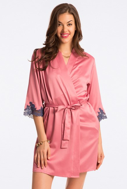 Pretty Secrets Pink Solid Robe