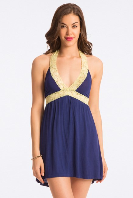 Pretty Secrets Navy Solid Chemise
