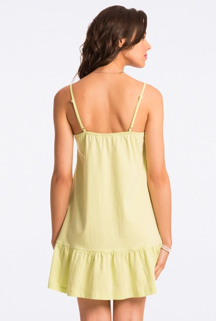 Pretty Secrets Lime Solid Chemise