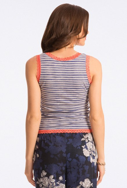 Pretty Secrets Grey Striped Tank Top