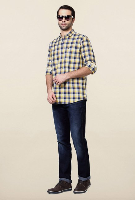 Allen Solly Navy & White Checks Shirt