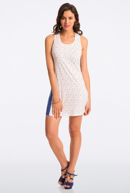 Pretty Secrets White Polka Dot Chemise