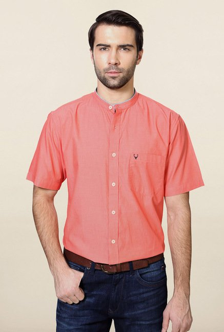 Allen Solly Coral Solid Casual Shirt