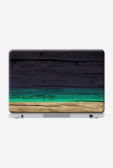 "Macmerise Wood Stripes Blue Skin for 15.4"" Laptops"