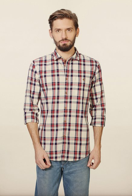 Allen Solly Multicolour Checks Casual Shirt