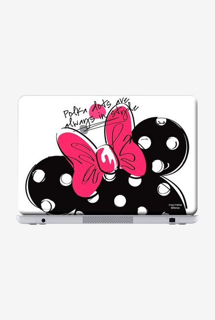 "Macmerise Polka Minnie Skin for 15.4"" Laptops"