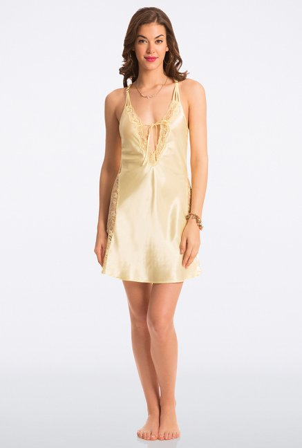 Pretty Secrets Yellow Solid Chemise