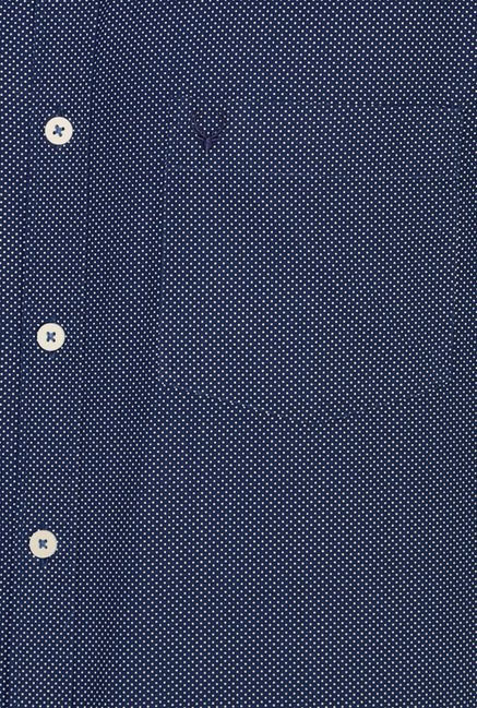 Allen Solly Navy Polka Dot Casual Shirt