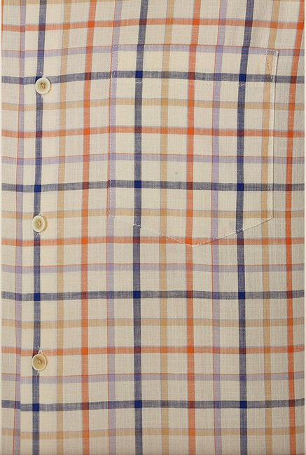 Peter England Multicolour Tattersall Checks Casual Shirt